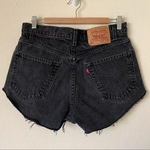 Vintage Levi's High Rise Denim Jean Shorts Cutoffs
